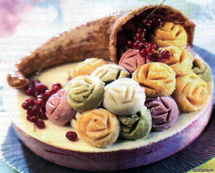 Торты с фруктовым мороженым