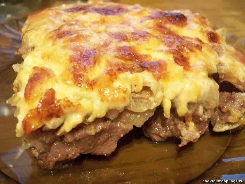 Мясо по-французски с картошкой говядина в духовке рецепт с пошагово в