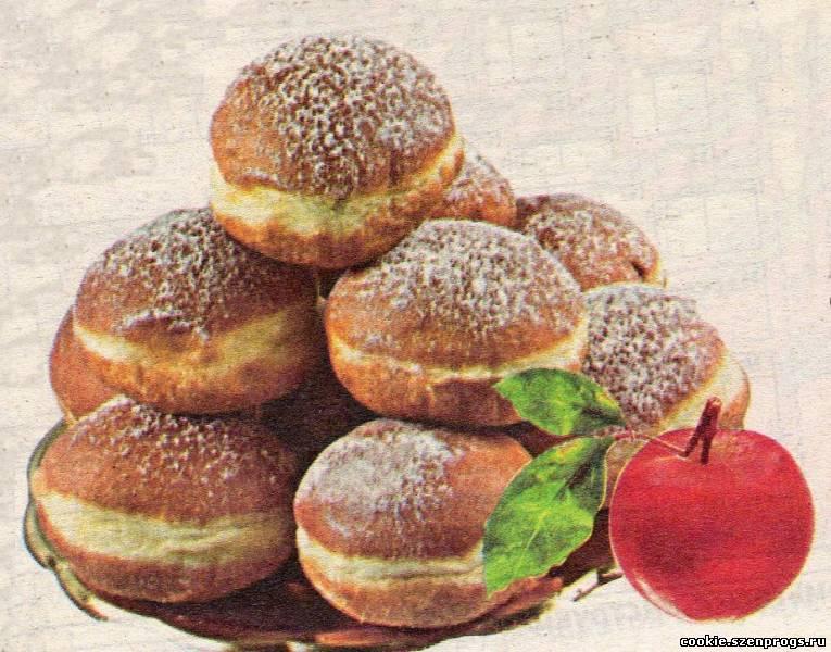 Пончики с яблоками к завтраку рецепт с фотографиями